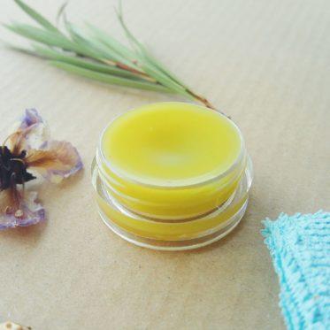 lemongrass hemp oil lip balm